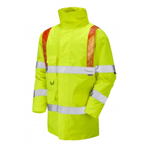 ISO 20471 Class 3 Orange Brace Anorak Yellow Traffic Management