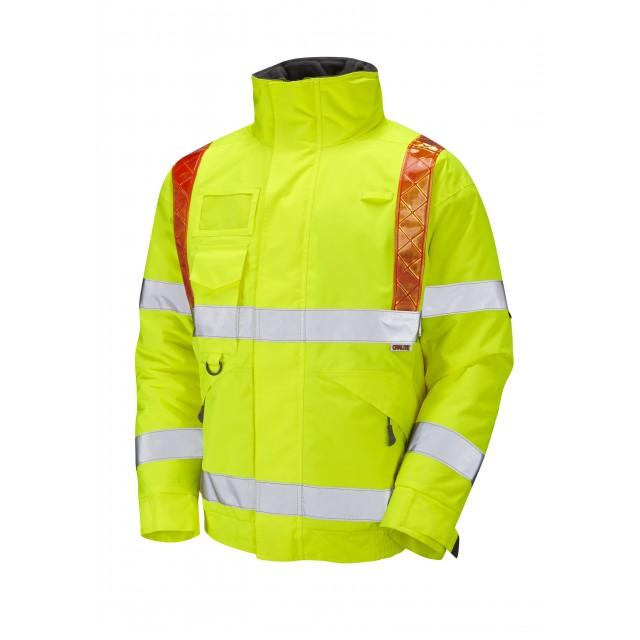 ISO 20471 Class 3 Orange Brace Superior Bomber Jacket Yellow Traffic Management