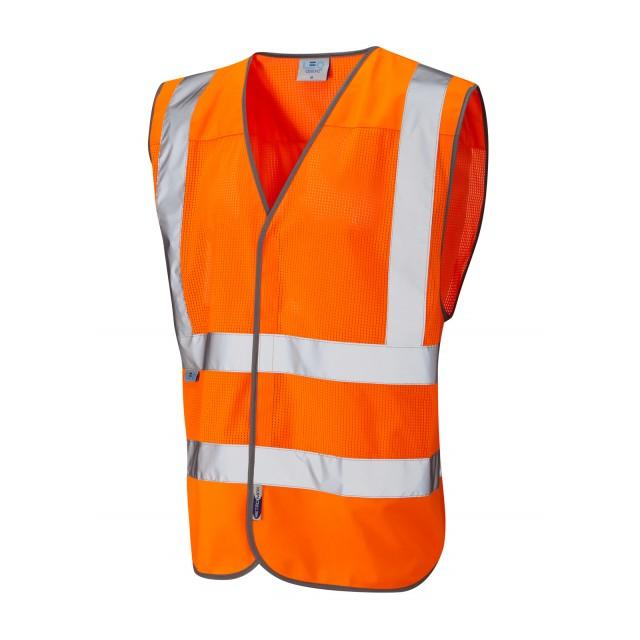 ISO 20471 Class 2 Coolviz Waistcoat Orange Coolviz Waistcoats