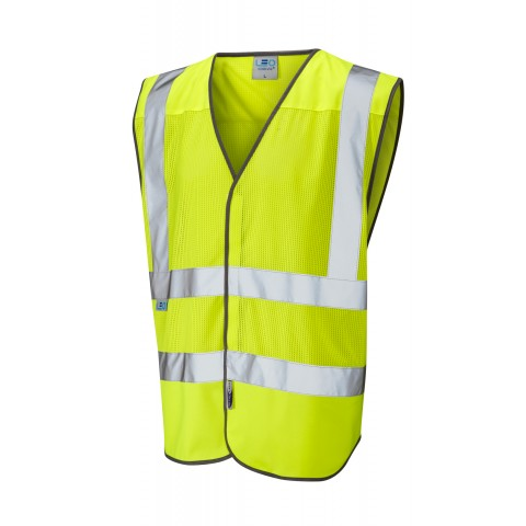 ISO 20471 Class 2 Coolviz Waistcoat Yellow Coolviz Waistcoats