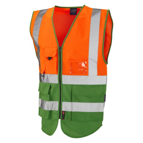 ISO 20471 Class 1 Superior Waistcoat Orange/Green