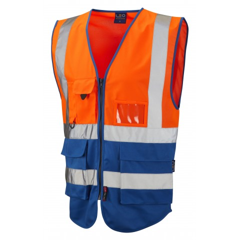 ISO 20471 Class 1 Superior Waistcoat Orange/Royal Superior Waistcoats