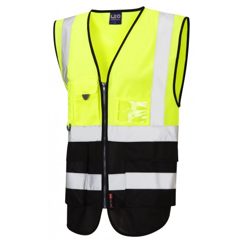 ISO 20471 Class 1 Superior Waistcoat Yellow/Black Superior Waistcoats