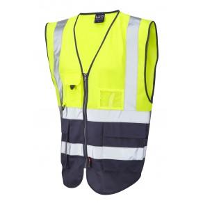 ISO 20471 Class 1 Superior Waistcoat Yellow/Navy