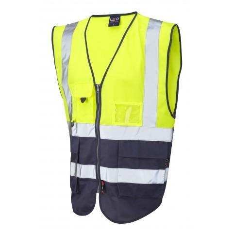 ISO 20471 Class 1 Superior Waistcoat Yellow/Navy Superior Waistcoats