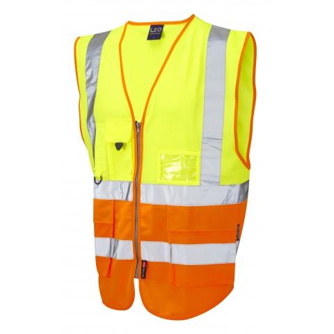 ISO 20471 Class 2 Superior Waistcoat Yellow/Orange Superior Waistcoats