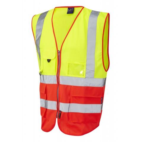 ISO 20471 Class 2 Superior Waistcoat Yellow/Red Superior Waistcoats