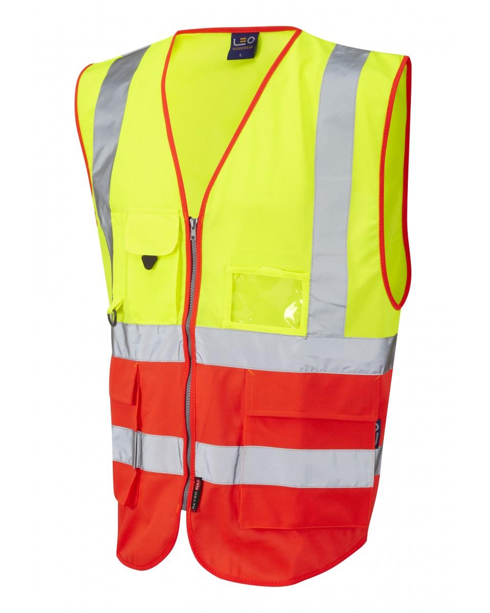 c1f63bedeb875 ISO 20471 Class 2 Superior Waistcoat Yellow/Red Superior Waistcoats