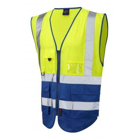 ISO 20471 Class 1 Superior Waistcoat Yellow/Royal Superior Waistcoats