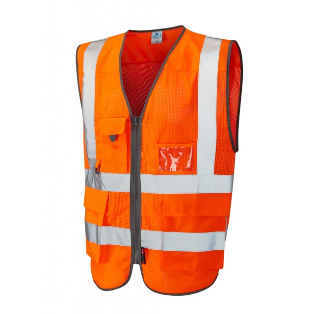 ISO 20471 Class 2 Coolviz Superior Waistcoat Orange Coolviz Waistcoats