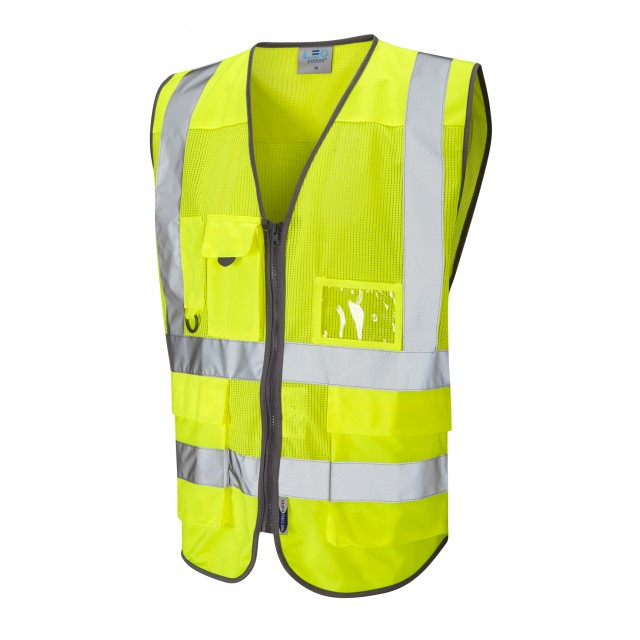 ISO 20471 Class 2 Coolviz Superior Waistcoat Yellow Coolviz Waistcoats