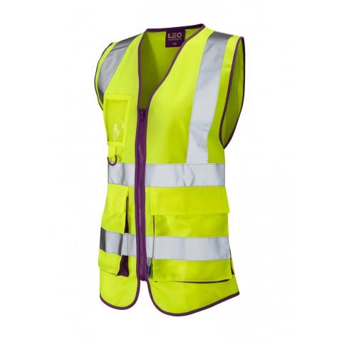ISO 20471 Class 1 Ladies Superior Waistcoat Superior Waistcoats