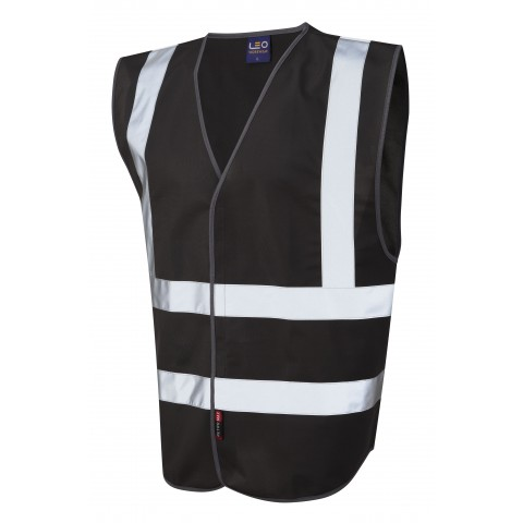 Single Colour Reflective Waistcoat (Non ISO 20471) Black Single Colour Waistcoats