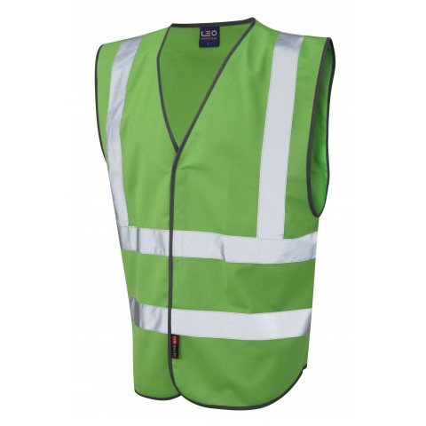 Single Colour Reflective Waistcoat (Non ISO 20471) Green Single Colour Waistcoats