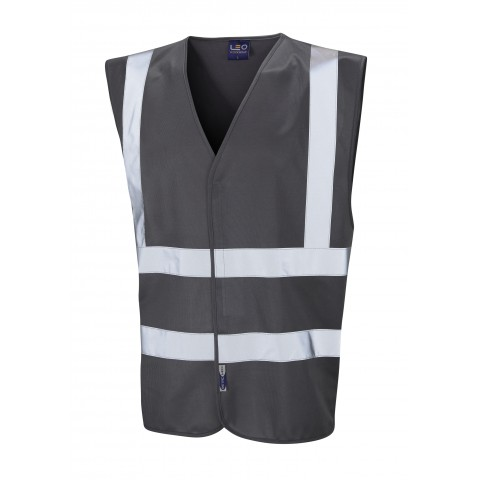Single Colour Reflective Waistcoat (Non ISO 20471) Grey Single Colour Waistcoats