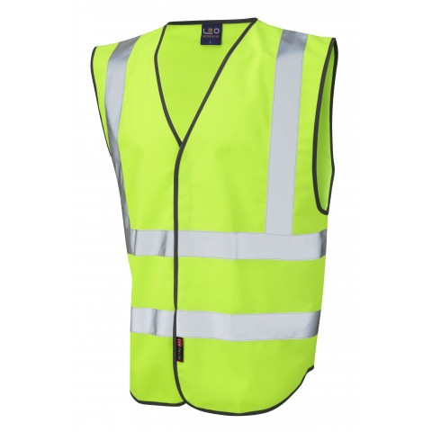 Single Colour Reflective Waistcoat (Non ISO 20471) Lime Single Colour Waistcoats