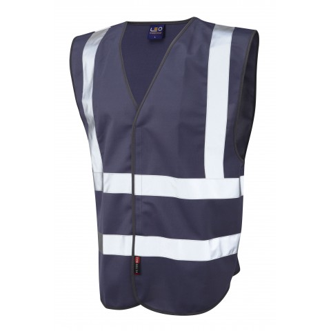 Single Colour Reflective Waistcoat (Non ISO 20471) Navy Single Colour Waistcoats