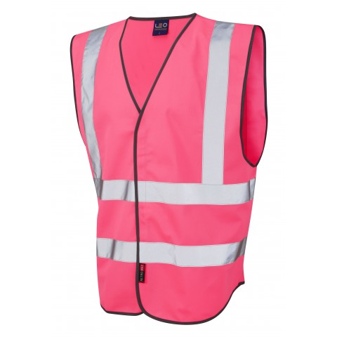 Single Colour Reflective Waistcoat (Non ISO 20471) Pink Single Colour Waistcoats