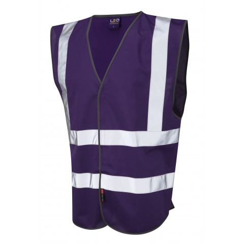 Single Colour Reflective Waistcoat (Non ISO 20471) Purple Single Colour Waistcoats