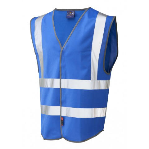 Single Colour Reflective Waistcoat (Non ISO 20471) Royal Single Colour Waistcoats