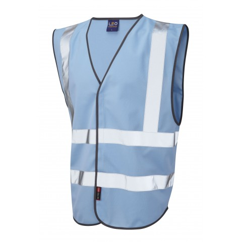 Single Colour Reflective Waistcoat (Non ISO 20471) Sky Single Colour Waistcoats
