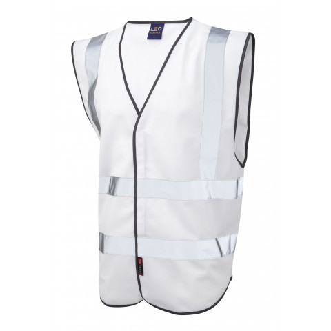 Single Colour Reflective Waistcoat (Non ISO 20471) White Single Colour Waistcoats