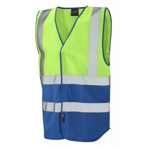 Dual Colour Reflective Waistcoat (Non ISO 20471) Lime/Royal Dual Colour Waistcoats