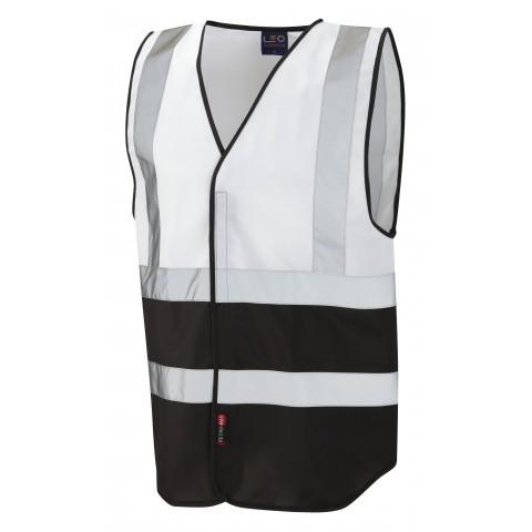 Dual Colour Reflective Waistcoat (Non ISO 20471) White/Black Dual Colour Waistcoats