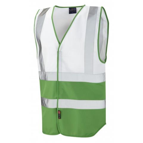 Dual Colour Reflective Waistcoat (Non ISO 20471) White/Green Dual Colour Waistcoats