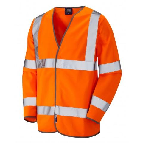 ISO 20471 Class 3 Sleeved Waistcoat Orange Sleeved Waistcoats