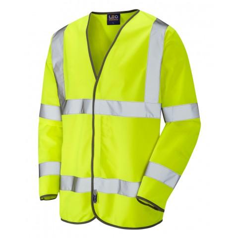 ISO 20471 Class 3 Sleeved Waistcoat Yellow Sleeved Waistcoats