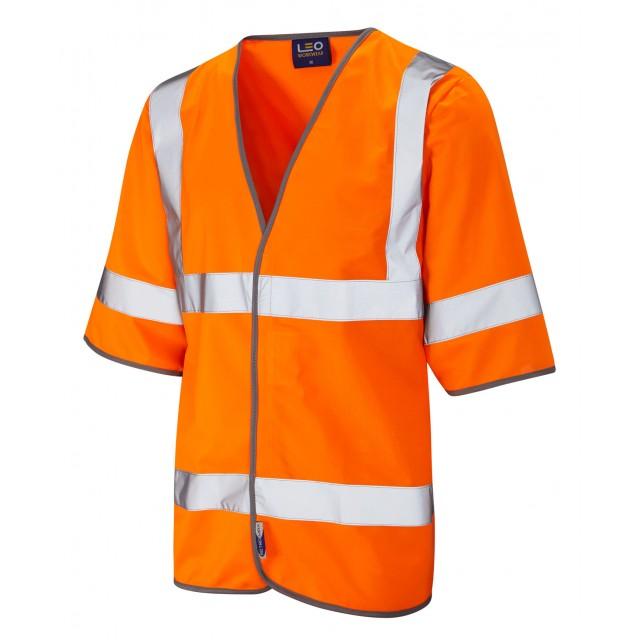 ISO 20471 Class 3 Half Sleeve Waistcoat Orange Sleeved Waistcoats