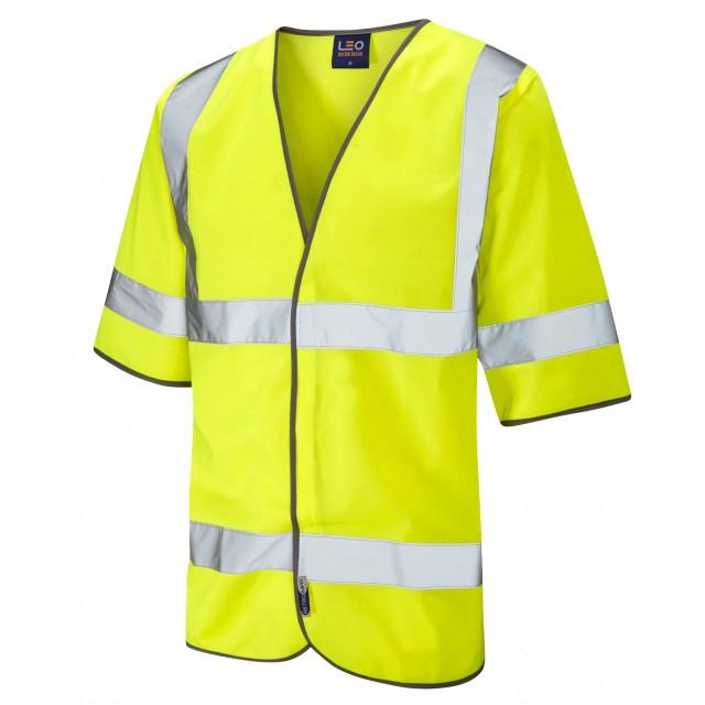 ISO 20471 Class 3 Half Sleeve Waistcoat Yellow Sleeved Waistcoats