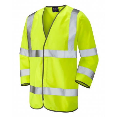 ISO 20471 Class 3 3/4 Sleeve Waistcoat Yellow Sleeved Waistcoats