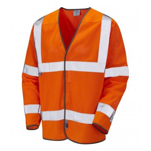 ISO 20471 Class 3 Coolviz Sleeved Waistcoat Yellow Coolviz Waistcoats