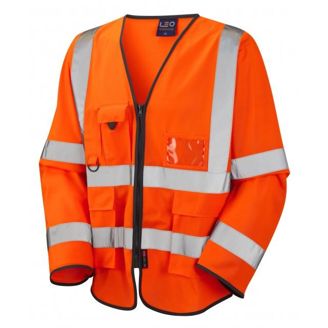 ISO 20471 Class 3 Sleeved Superior Waistcoat Orange Superior Sleeved Waistcoats