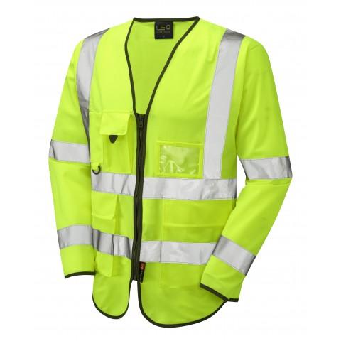 ISO 20471 Class 3 Sleeved Superior Waistcoat Yellow Superior Sleeved Waistcoats
