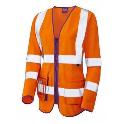 ISO 20471 Class 2 Ladies Sleeved Superior Waistcoat Superior Waistcoats