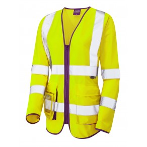 ISO 20471 Class 2 Ladies Sleeved Superior Waistcoat Yellow