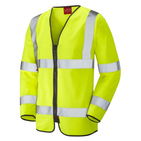 EN 471 Class 3 LFS Sleeved Zip Waistcoat Yellow EN 533 LFS Waistcoats