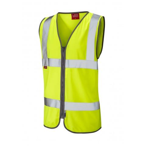 EN 471 Class 2 LFS Zip Waistcoat Yellow EN 533 LFS Waistcoats