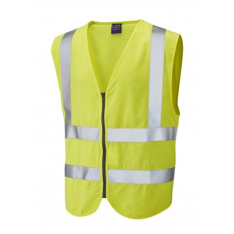 ISO 20471 Class 2 FR Anti-Static Waistcoat Yellow EN 16112 FR/Anti Static Waistcoats