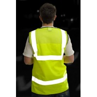 ISO 20471 Class 2 Mesh Back Waistcoat Yellow Standard Waistcoats
