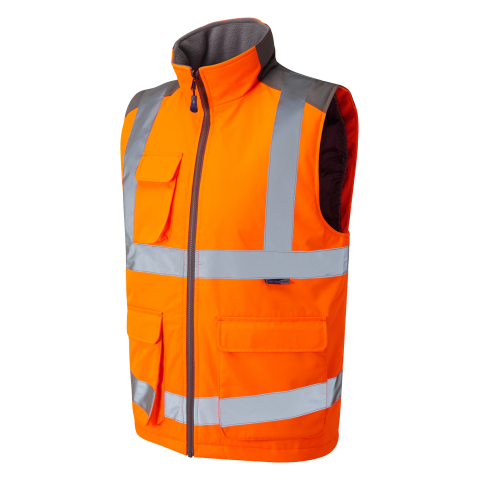 ISO 20471 Class 2 Bodywarmer Orange Bodywarmers