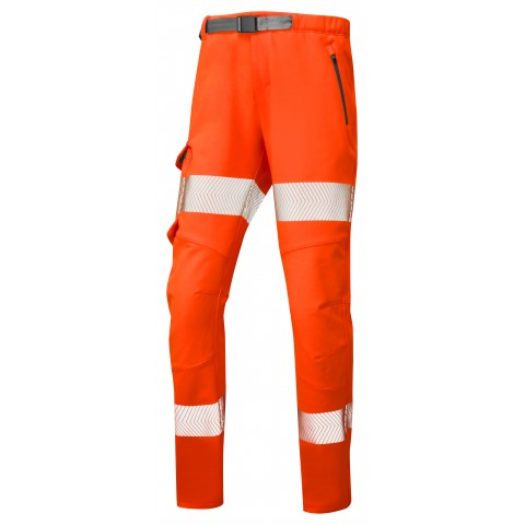 ISO 20471 Class 2 Women's Stretch Work Trouser Orange