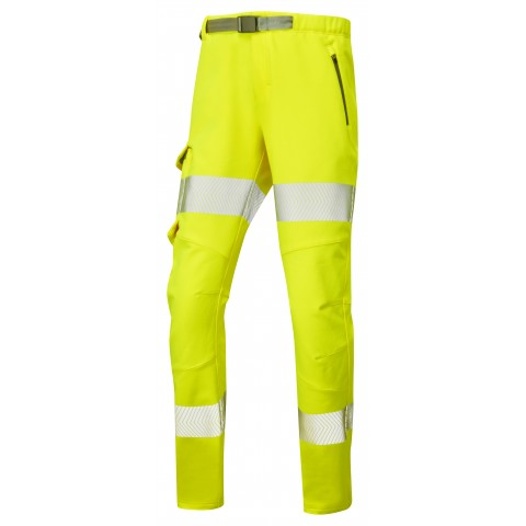 ISO 20471 Class 2 Women's Stretch Work Trouser Yellow